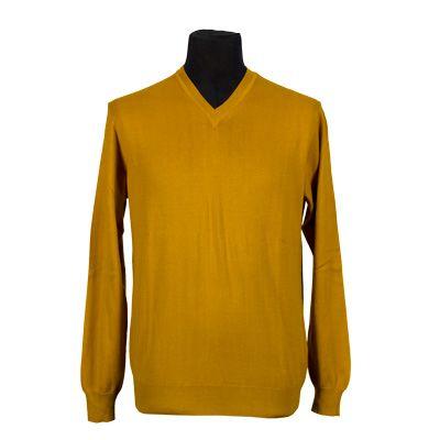 Maglia - FILIPPO RIBERTI - Maglia in puro cotone manica lunga - Giallo ocra - Estivo. € 16,50. #hallofbrands #hob #maglia #sweater #jersey #knitwear