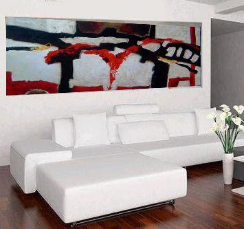 best cuadro abstracto moderno econmico de grandes dimensiones para saln comedor with cuadros grandes abstractos - Cuadros Grandes Dimensiones