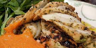 Octopus, Grilled - in herb paste - ABC TV: The Cook and the Chef