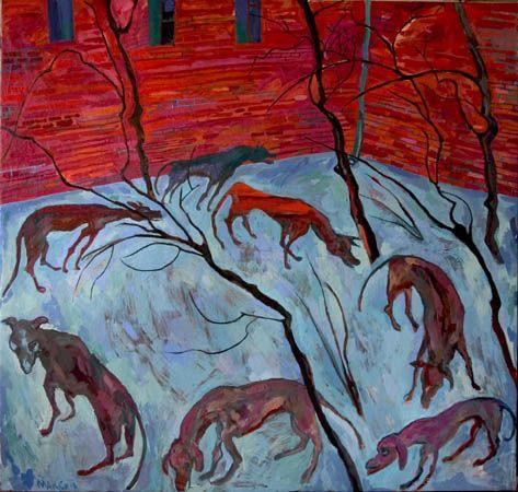 Maxim Kantor - Winter Dogs