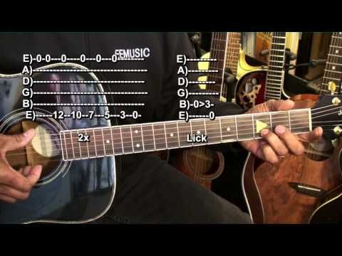 Your Very First EASY E String FINGERSTYLE BLUES Guitar Solo Tutorial Lesson EricBlackmonMusicHD - YouTube