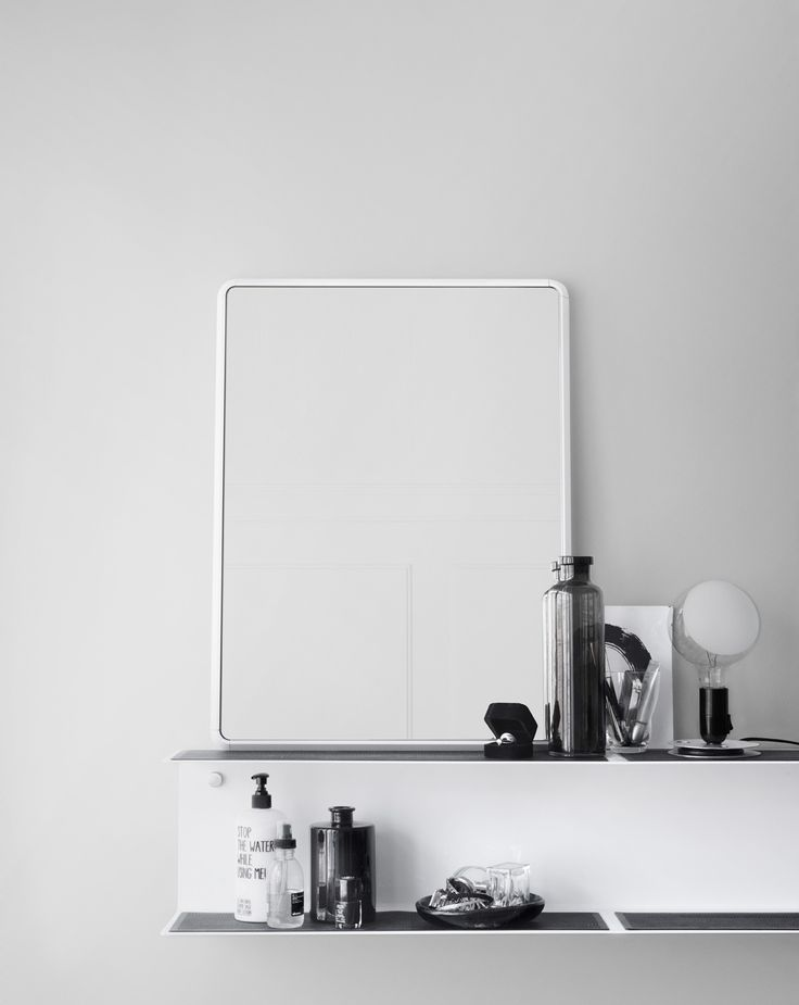 Mirror mirror on the vipp shelf. Mirror from Vipp available in three sizes