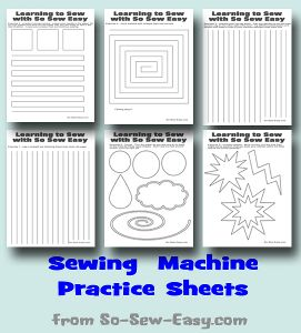 Printable Sewing Machine Practice Sheets | AllFreeSewing.com
