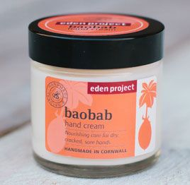 Eden Project baobab hand cream - more eco charity Christmas gifts for at http://www.charitychoice.co.uk/blog/charity-christmas-gifts-for-eco-warriors/113