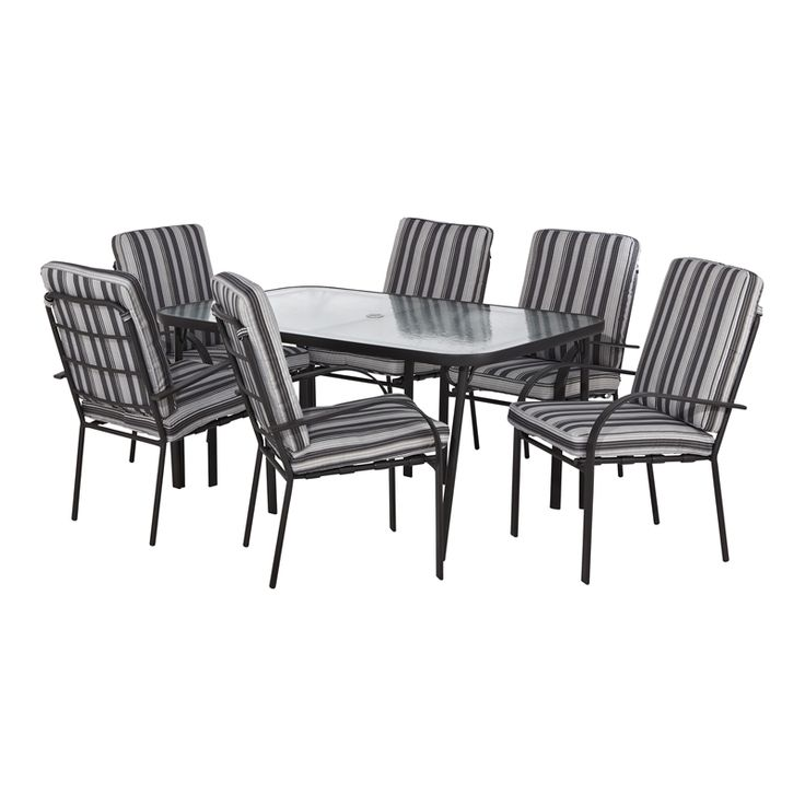 Marquee 7 Piece Sierra Cushioned Steel Outdoor Setting I/N 3191263 | Bunnings Warehouse