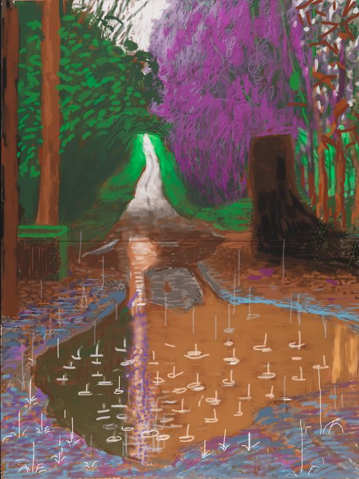David Hockney — The Arrival of Spring in Woldgate — Galerie Lelong — Exposition — Slash Paris