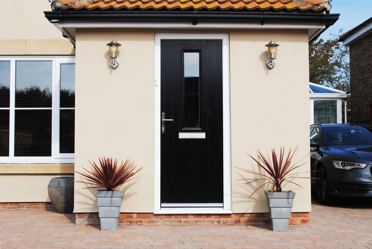 A stunning modern cottage long composite door with simple