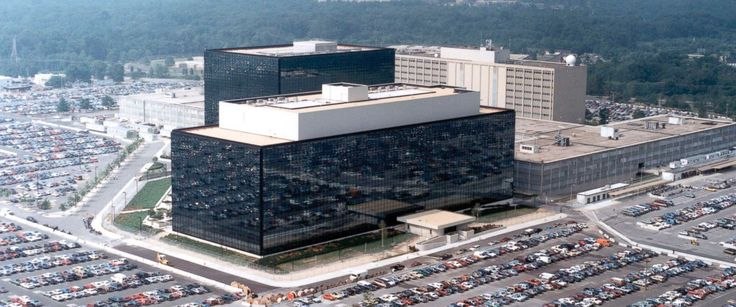 PHOTO: An undated aerial handout photo shows the National Security Agency (NSA) headquarters building in Fort Meade, Maryland.