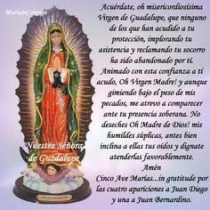 A NUESTRA SEÑORA DE GUADALUPE 2 Oraciones para momentos difíciles I Virgen Santísima de Guadalupe, Madre de Dios, Señora y Madre...