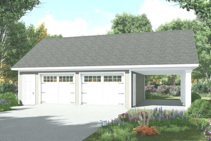 Garage Plans With Carport Great Buildings And Structures In 2020 Garage Plans Detached Garage Plan Garage Plans