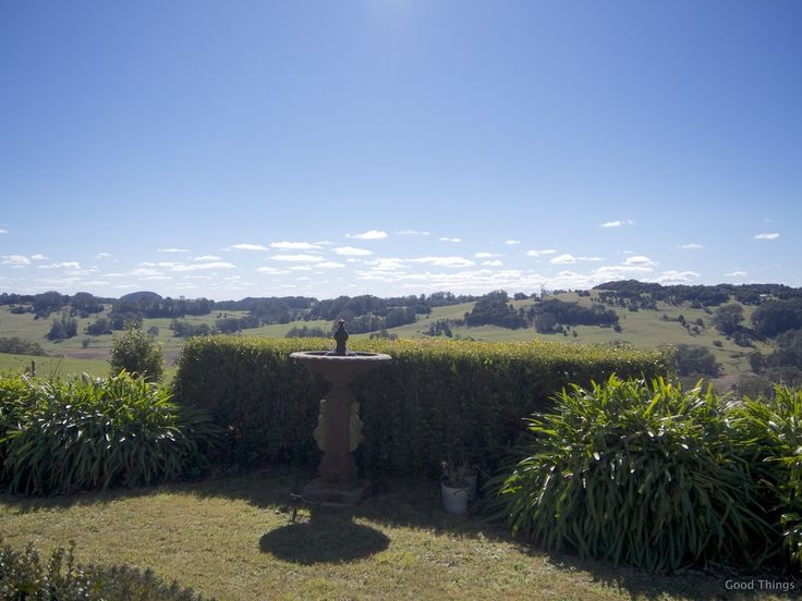 Water feature and stunning vistas t Laurel View farm stay in the NSW Southern Highlands by Liz Posmyk Good Things