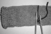 Knitting Toe Up, Afterthought Heel Socks
