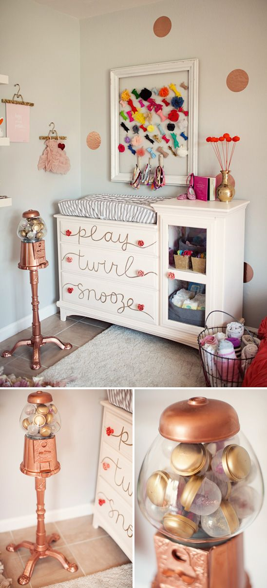 Gold and Pink baby girl nursery