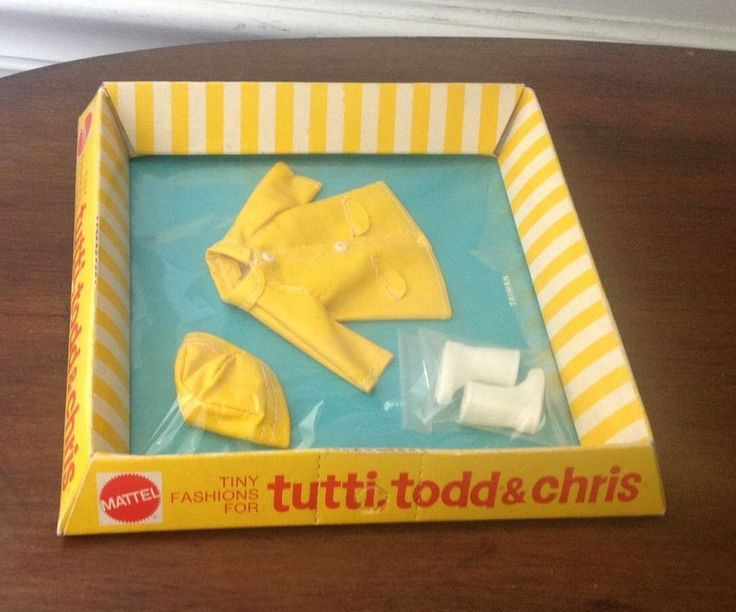 Tutti's Tiny Sister Fashions Outfit Vintage 1965 Rain Coat Hat Boots | eBay
