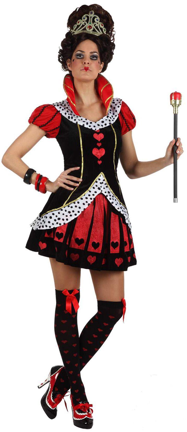 Dit hartenvrouw kostuum voor volwassenen zal ideaal geschikt zijn als carnavalskleding om een echte koningin te worden! - Nu verkrijgbaar op Vegaoo.nl