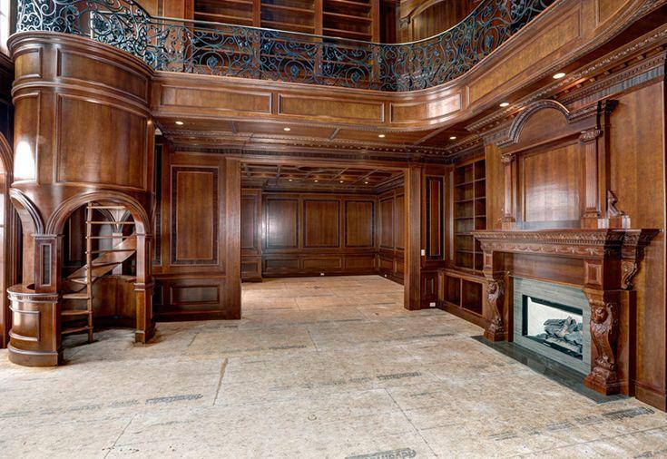 Luxury Home Office luxury home library, 2 story design createdinterior designer