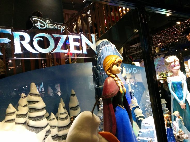 Window decorations of a Disney store in Grafton street, Dublin.