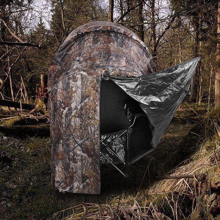 Pop Up Deer Ground Hunting Chair Blind Camouflage Deer