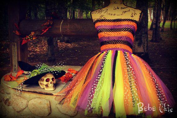 Halloween witch tutu dress sorceress by Mybebechic on Etsy