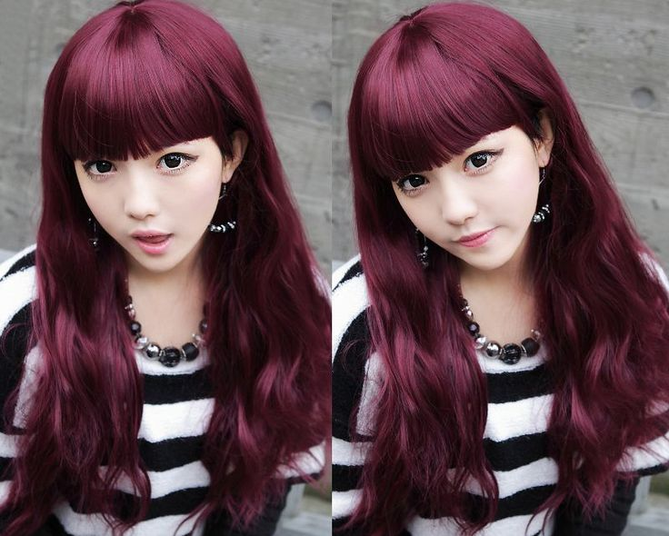 Red Violet Hair Color Ideas | Violet Red Haircolor ...