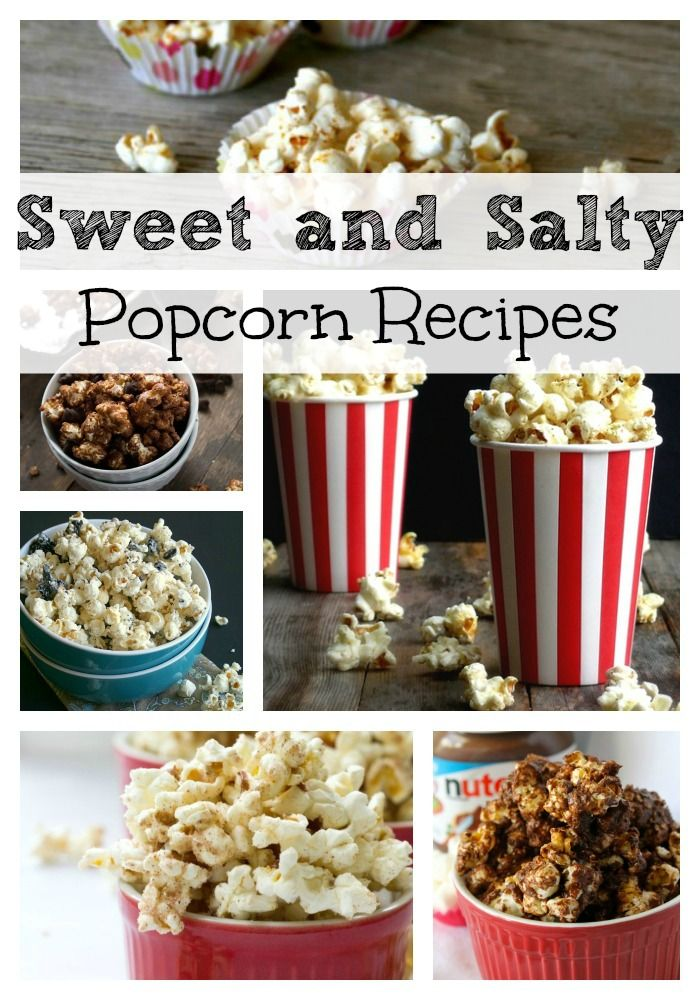 Sweet and Salty Popcorn Recipes- popcorn is my vice!!