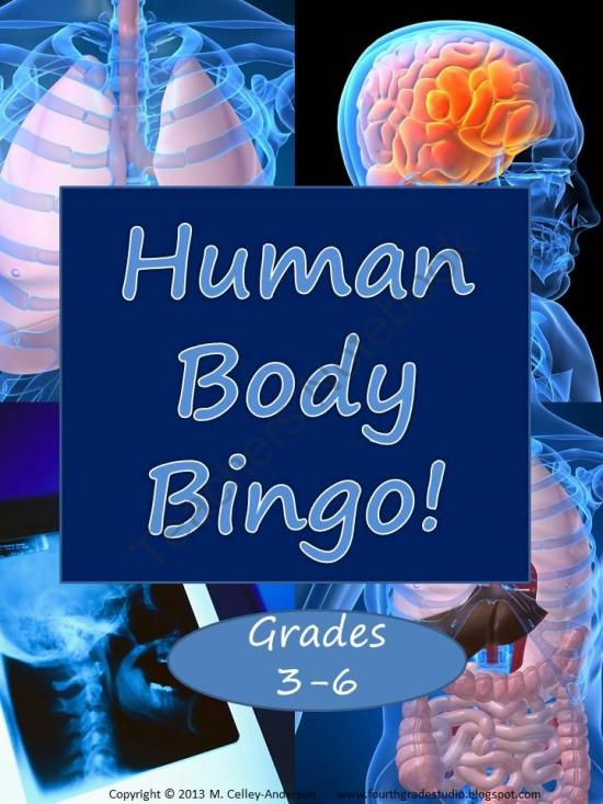 Human Body Bingo from Fourth Grade Studio on TeachersNotebook.com (7 pages)  - Great game for reviewing information learned in a human body systems unit!