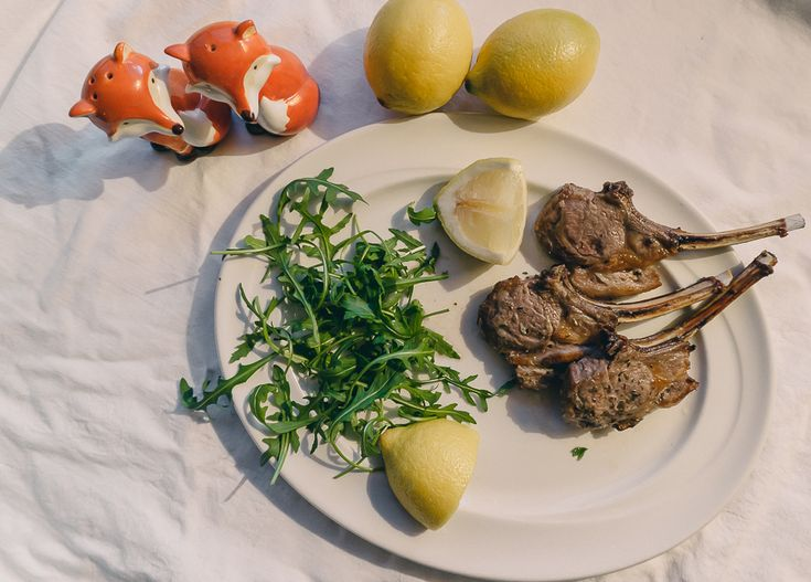 Grilled lamb cutlets with lemon and oregano marinade recipe. The cutlets can be cooked on barbecue, griddle pan or oven grill.