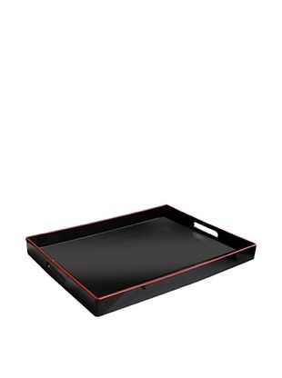 47% OFF Accents by Jay Rectangular Tray with Handles (Black/Red)