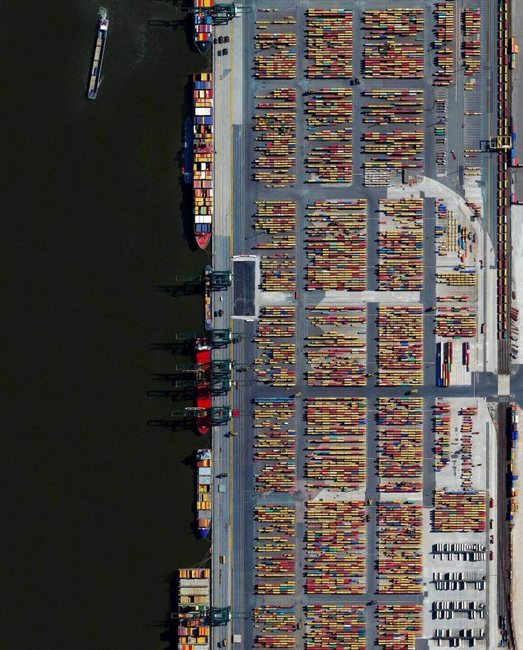 The Port of Antwerp in Belgium is the second largest seaport in Europe. In one year alone the facility handles more than 71,000 vessels and 314 million tons of cargo. That weight is roughly equal to 68% of the mass of all living humans on the planet.  Instagram: http://bit.ly/2iPPApM  51.322990, 4.326734  Source imagery: DigitalGlobe