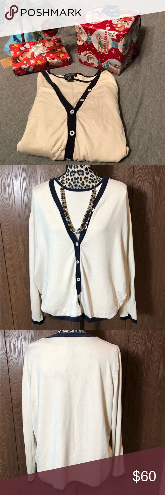 ☃️Lauren Ralph Lauren Sweater Set Gently used 2X sweater set from Lauren Ralph Lauren. Some slight spots that aren't noticed unless under bright lights. Bust of the tank top is 22.5 inches and 23.5 inches long. The Cardigan is 25.5 inches in the bust and 25 inches long.   💜All sales are going towards college tuition for the spring semester! I am majoring in Elementary Education and I love it! Thanks so much for helping me reach my goal of becoming a Kindergarten teacher!💙 Lauren Ralph…