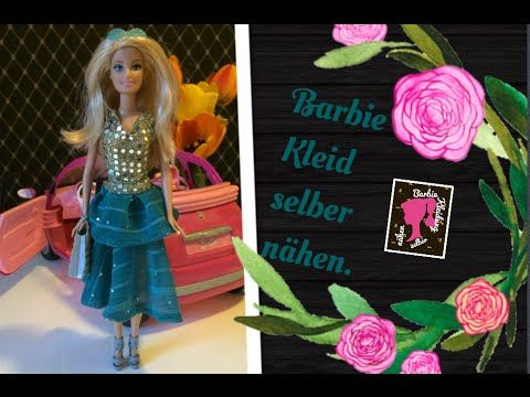Barbie Kleid selber nähen - YouTube