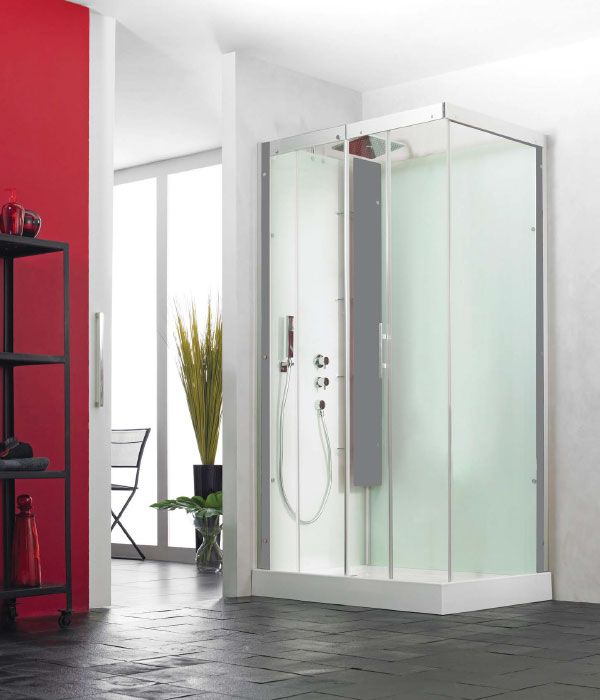 The kinedo horizon shower cubicle offers an elegant yet for Shower cubicle shelves