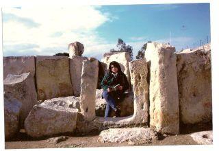 Malta - Hagar Qim, comlesso megalitico - inverno '96/'97