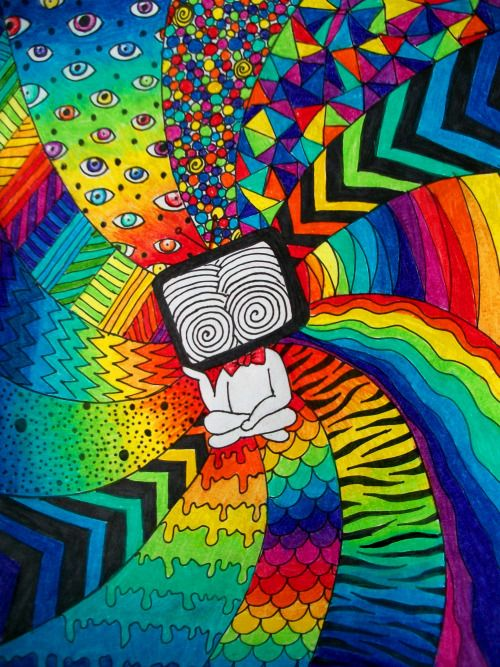 hippie art on Tumblr |Crazy Trippy Drawings