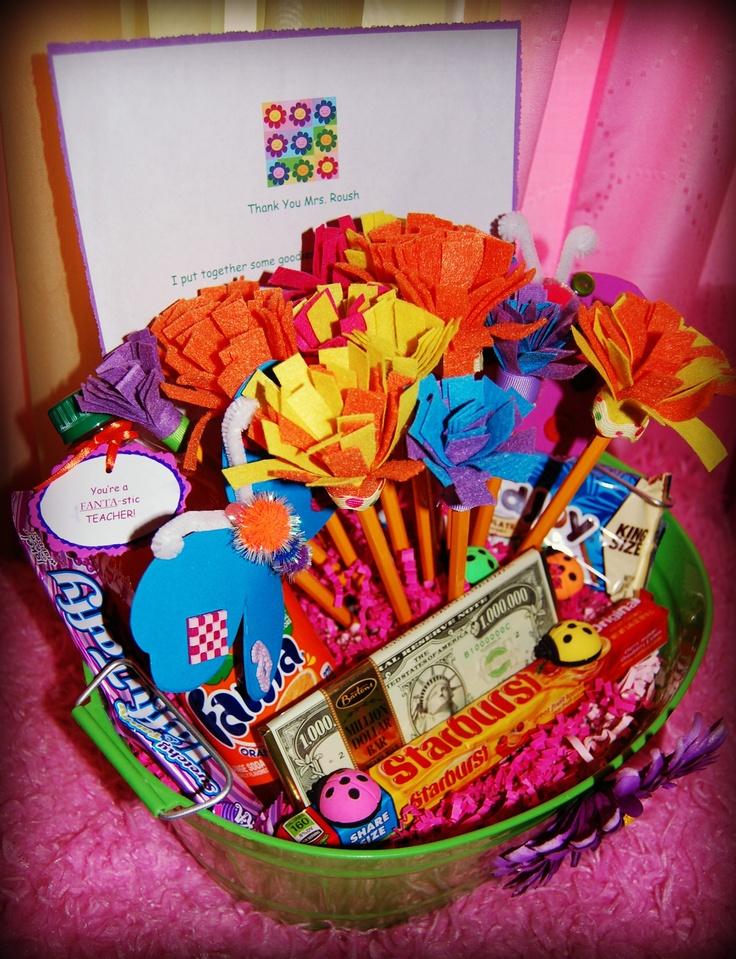 Classroom Gift Ideas For Teacher ~ Teacher thank you basket crafts pinterest