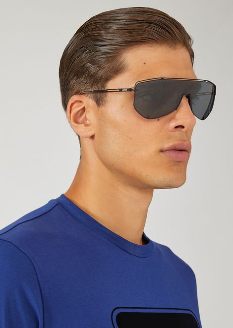 c21ffd10a Emporio Armani Catwalk Man Sunglasses With Mask-Style Lens | sales ...
