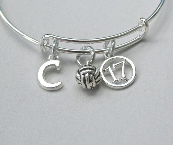 Hey, I found this really awesome Etsy listing at https://www.etsy.com/listing/238197262/volleyball-charm-bangle-volleyball-charm