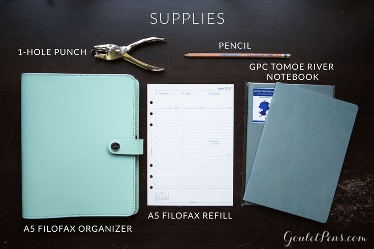 This is all you'll need to turn your Filofax Organizer into a fountain pen friendly Bullet Journal. Read this to find out more!