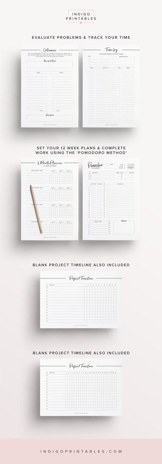 Productivity Planner Goal Planner Success Printable Planner