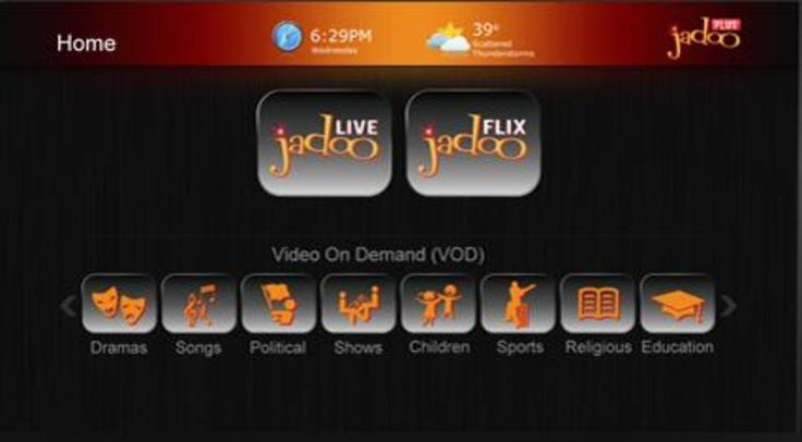 Now with Jadoo Plus, you'll have more features. JadooPLUS is a multi-platform entertainment service consisting of Live TV and On-Demand content from South Asia. JadooPLUS caters to the South Asian diaspora worldwide through Internet connected devices. www.jadoobox.dk