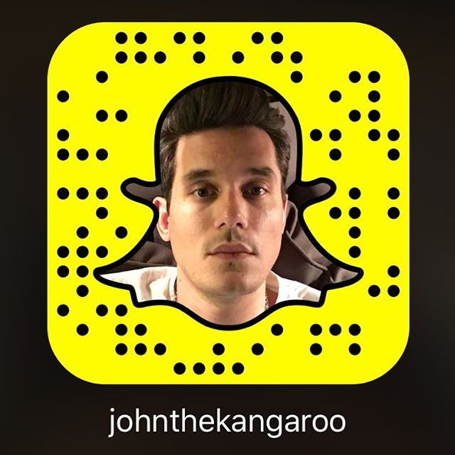 Pin for Later: These Celebrity Snapchat Accounts Are So Hot They May Actually Steam Up Your Phone Screen John Mayer: johnthekangaroo