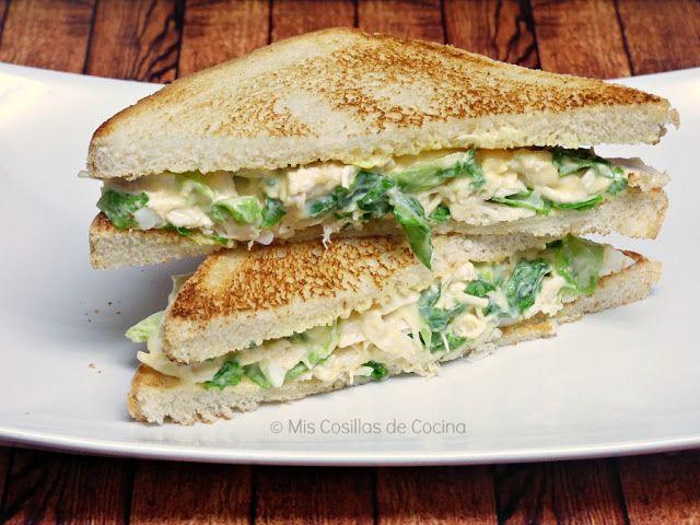 Comparte Recetas - Sándwich de pollo frío