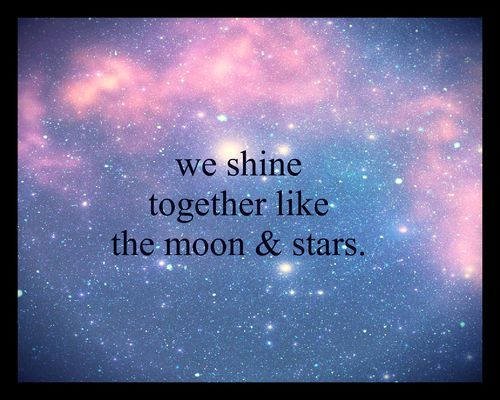 Stars And Love Quotes: (shine,moon,stars,quotes,love,life,photography,cute