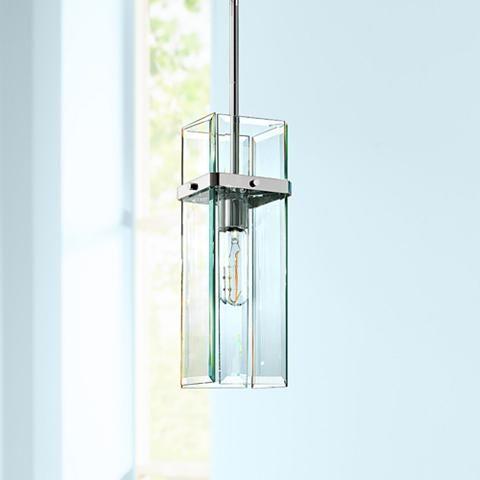 "Mercer Street 5 3/4""W Polished Chrome Mini Pendant - #Y0627 | Lamps Plus"