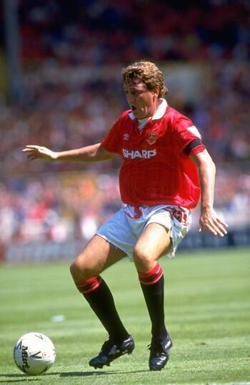 Steve Bruce in the 1993 Charity Shield
