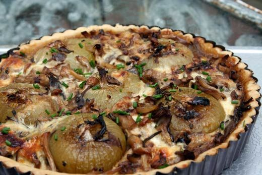 Mushroom & Cippolini Tart