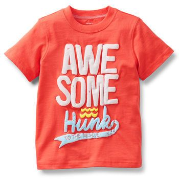 """Awesome Hunk"" graphic tee for toddler boys. #carters"