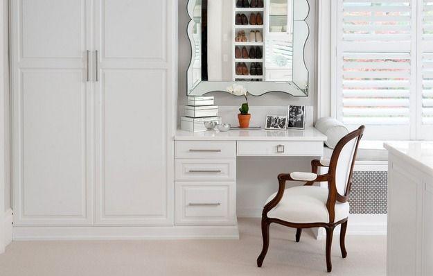 Фотография: Мебель и свет в стиле Классический, Современный, Гардеробная, Хранение, Интерьер комнат, туалетный столик, женский интерьер – фото на InMyRoom.ru
