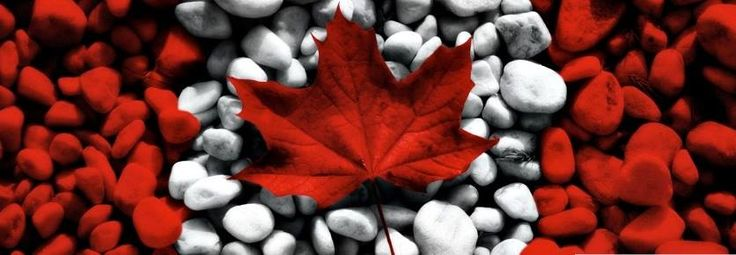 Red Maple leaf with side panels. #Photoshop