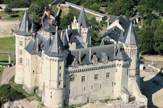 Château de Saumur , situé sur la commune de Saumur, Maine-et-Loire, Pays de la Loire France.